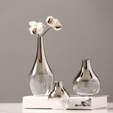 Nordic Glass Vase Silver Gradient Dried Flower Vase Decoration Home Decoration