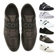c116c5030 Mens Lacoste MISANO ELASTIC Slip On Leather Sneakers NEW