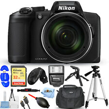 Nikon COOLPIX B600 Digital Camera (Black) with 32GB + Flash + Tripod Bundle