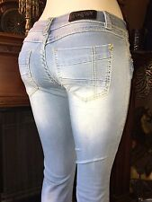 NWT~Rose Royce Boot-cut Jeans(Sarina/Skylight ) Rubber-band Stretch~SZ~27 (5/6)