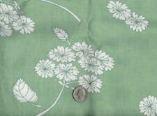 1 Full Opened Green Feedsack Fabric with White Flowers 6440