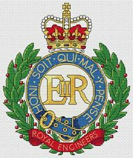 "Royal Engineers Army Cross Stitch Design (6x8"", 15x20cm,kit or chart)"