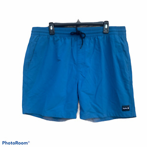 """Hurley swim shorts blue XXL 17"""" length new with tags"""