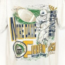 Notre Dame Fighting Irish Football T Shirt Vintage 90s NCAA Made In USA Large