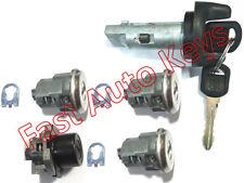 Astro Safari 96-97 OEM Ignition Door Rear Key Lock Cylinder Set Chrome 2 GM Keys