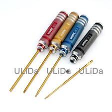 Titanium Nitride TiNi Hex Driver Wrench 4Pcs Set 1.5mm/2mm/2.5mm/3.0mm
