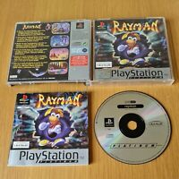 RAYMAN PLAYSTATION PS1 PAL GAME COMPLETE WITH MANUAL FREE P&P