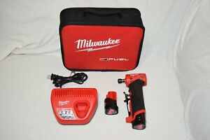 Milwaukee M12 Fuel 2485-22 1/4-inch Right Angle Die Grinder Kit - USED - TESTED