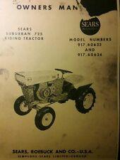 David Bradley 725 Garden Tractor, Mower & Engine Owner & Parts (3 Manuals) SEARS