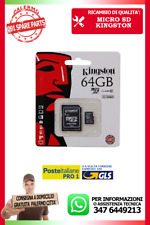 MICRO SD KINGSTON CLASSE 10 DA 64 GB GIGA BITE