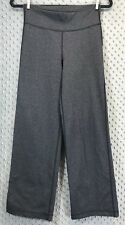 Lululemon Relaxed Fit Crop II Pants Heather Black Size 4 Stretch Fitness Lounge
