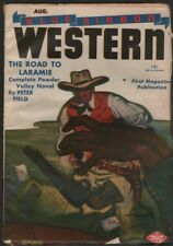 Blue Ribbon Western 1946 August.      Pulp