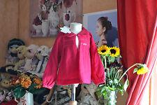 Blouse Lili GAUFRETTE neuve 2 ans doublee 100 laine Cerise papilles un peux E