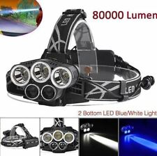 80000 LM 5x T6 DEL Phare Lampe Frontale Rechargeable USB 18650 Head Torch