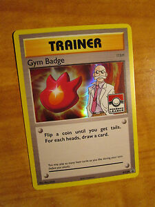 NM LEAGUE Pokemon BLAINE'S GYM BADGE Card BLACK STAR PROMO Trainer XY209 Holo