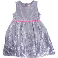 Kids Girls Baby Princess Flower Sequin Party Wedding Sequin Formal Dress Silver