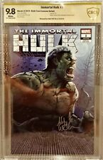 Immortal Hulk #1, AOD Variant, CBCS 9.8 NM/M, Signed by Ashley Witter