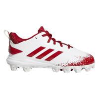 Adidas Adizero Afterburner V MD Youth Baseball Cleats CG5238 - White, Red (NEW)