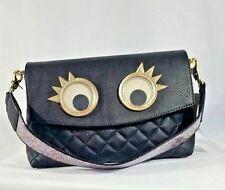 Betsey Johnson XOX Trolls Convertible Clutch Crossbody Googly Eyes Purse Bag
