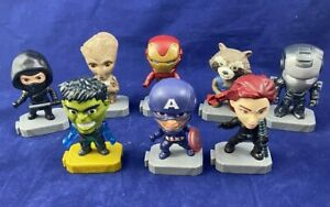 Lot of 8 McDonald's 2019 Marvel Avengers Endgame Happy Meal Toys Very good