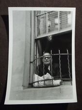OLD MAN LOOKING OUT WINDOW OF NEW YORK CITY APARTMENT  VTG 1973 ABSTRACT PHOTO