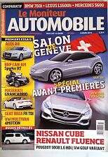 Le moniteur Automobile 3/03/2010; Salon de Genève/ Audi A8/ Spyder RT/ Ibiza FR