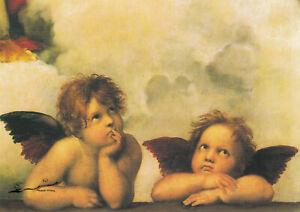 Postkarte: Raffael - Zwei Engel