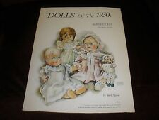 Unpunched Dolls Of The 1930'S Paper Dolls By Janet Nason 1976
