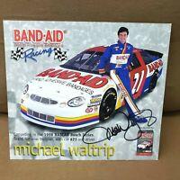 1998 Michael Waltrip Signed Band-Aid Racing NASCAR Busch Oversized Postcard 8x9