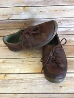 Earth Integrate Brown Lace Up Shoes Size 8 B Womens Brown Leather Brindle oxford