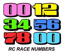 24 x VINYL race numbers SIGNS stickers MARDAVE  V12  RC banger shell KAMTEC