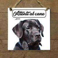 Labrador Retriever NERO MOD 1 Attenti al cane Targa cane cartello ceramic tiles