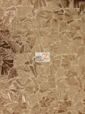 """CELEBRITY DRESS GOWN PROM SEQUINS LACE FABRIC - Champagne - 54"""" WIDE BY THE YARD"""