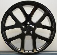 "(4) 22"" Staggered Viper Gloss Black 300C Challenger Charger Magnum Wheels Rims"