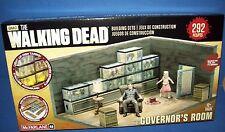 AMC 14526 The Walking Dead Building Set GOVERNOR'S ROOM light up fish tanks NIB