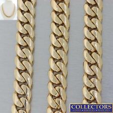 """Mens Heavy Long 14k Yellow Gold Cuban Curb 10mm Chain Link Necklace 29.5"""" 295g E"""