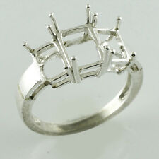 Semi Mount Baguette Shape Beautiful Ring 6x8 MM 925 Silver Anniversary Jewelry