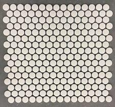 """Penny Round White Glazed Porcelain 3/4"""" Mosaic Tile Wall  Floor Backsplash"""