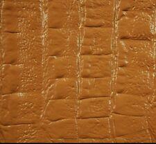 87 sf. TAN  Alligator Crocodile  Print Cow Hide Leather Skin ka1aa bcd