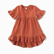 Baby Dress New Size 3-6 months 100% Cotton Boho Inspired Sienna Ruffle Dress