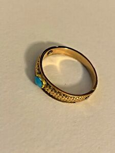 18K Gold ring with Turquoise Stone