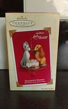 "Disney Hallmark Keepsake Ornament Lady and the Tramp ""SPAGHETTI SUPPER"" 2003"
