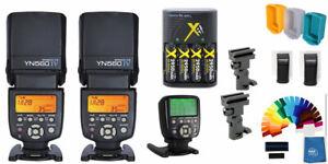 Yongnuo YN-560IV 2PC Wireless Flash Speedlite ProKit + YN560-TX II Trigger Nikon