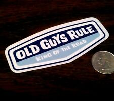 Original OLD GUYS RULE - Blue  KING OF THE ROAD Surf Sticker Vinyl Window Decal
