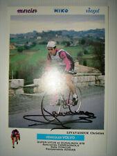 cyclisme carte Christian LEVAVASSEUR signée/autographe  MERCIER MIKO 1980