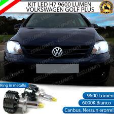 KIT FULL LED VW GOLF PLUS 2009+ LED H7 6000K XENON CANBUS 9600 LUMEN LED A 360°