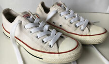 Converse UK 4.5 Lo Top White Pre Owned Shoes Wear Left Please See Photos!