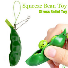 Squeeze Bean Stress Relief Fidget Bean Squishy Toys Keychain Funny Toy So Cute