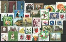 LATVIA LETTLAND MIX OF POSTAGE STAMPS 1992-2019