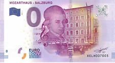 Österreich Mozarthaus XELH 2017-1 Null € 0-Euro-Souvenir Schein